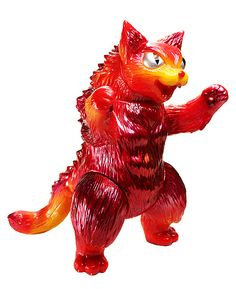 Flaming Red Kaiju King Negora Exclusive to STGCC. painted by Matt walker / DeadPresidents Design. 2012