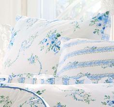 Actil Vintage Belmore European Pillowcase Chloe Blue