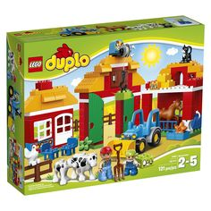Buy LEGO DUPLO 10525 Big Farm from our Construction Toys range at John Lewis & Partners. Toys R Us, Lego Ville, Toddler Toys, Kids Toys, Large Building Blocks, Lego Duplo Town, Figurine Lego, Lego Toys, Buy Lego