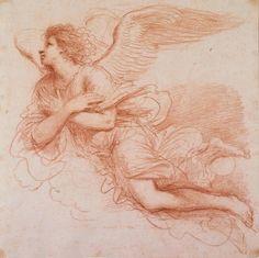 Guercino. An Angel in flight, c.1648