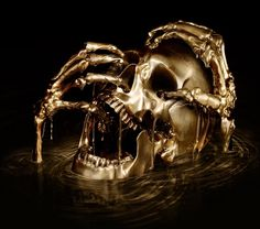 Black Sails wrapped up its story with a superb and solid final season that pitted John Silver against Captain Flint. Black And Gold Aesthetic, Maleficarum, Captain Flint, Black Sails, Necromancer, Seven Deadly Sins, Character Aesthetic, Skull Art, Gold Skull