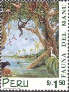 Peru Stamp - Fauna of Manu