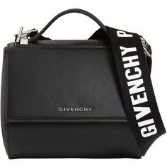 Givenchy Women Mini Pandora Box Leather Bag W/ Strap (€1.870) ❤ liked on Polyvore featuring bags, handbags, shoulder bags, bolsas, givenchy, black, shoulder strap bags, leather purses, givenchy purse and real leather purses