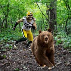 Oh ya know. Clay Matthews just hunting down some Bears.