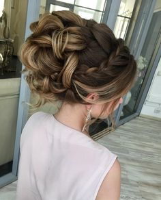 36 Braided Prom Hair Updos to Finish Your Fab Look Unique Wedding Hairstyles, Bride Hairstyles, Hairstyle Ideas, Hairstyle Braid, Beautiful Hairstyles, Vintage Hairstyles, Perfect Hairstyle, Graduation Hairstyles, Romantic Hairstyles