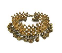 New to VintageVegasGems on Etsy: Brass Jingle Middle Eastern Belly Dance Bracelet (16.00 USD)
