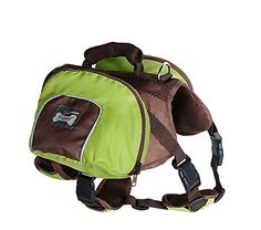 Pettom Waterproof fold able Dog Backpack Day Pack Adjustable Saddle bag Pocket Tripper Hound Bag for Pet Travel Hiking Camping Walking * See this great product.