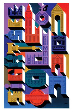 Sightsee London. #typography #illustration