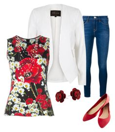 Floral by jennie-marie-maldonado on Polyvore featuring polyvore, fashion, style, Dolce&Gabbana, River Island, Frame Denim, Wet Seal, Michal Negrin, Sidney Garber and clothing