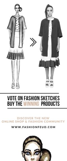 Discover and support emerging designers at our new online shop and fashion community. We show you fashion sketches, you VOTE to decide which sketches you want to see sold in our online shop as real products!  // Fashion Feud