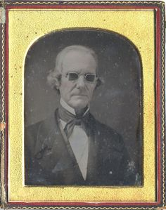 ca. 1850's, [daguerreotype portrait of a gentleman, presumably blind, wearing darkened glasses] via the Metropolitan Museum of Art, Ph...
