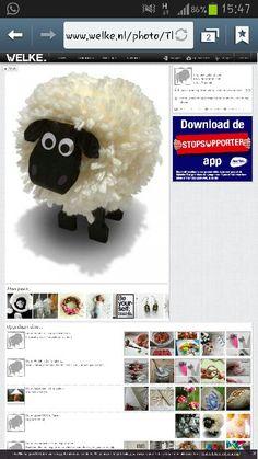 Schaapje knutselen Crochet Hats, App, Knitting Hats, Apps