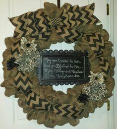 My burlap wreath design