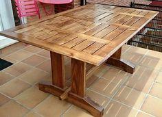 one of my works:my outdoor table. uno de mis trabajos: mesa de exterior