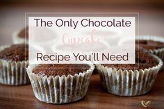 Decadent Chocolate Cupcake.  Moist, fluffy, uber chocolatey.  Yum!