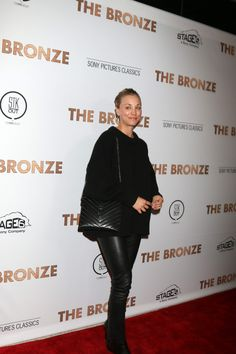 Kaley Cuoco arrives at the premiere of Sony Pictures Classics' 'The Bronze' held at SilverScreen Theater at the Pacific Design Center on March 7, 2016 in West Hollywood, California.