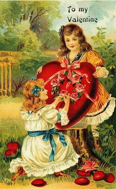 Vintage Valentine. Gorgeous!