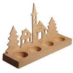 Triangle, Santa, Alps, Decorative Accessories, Paper Mache, Candle, Felting, Crafting
