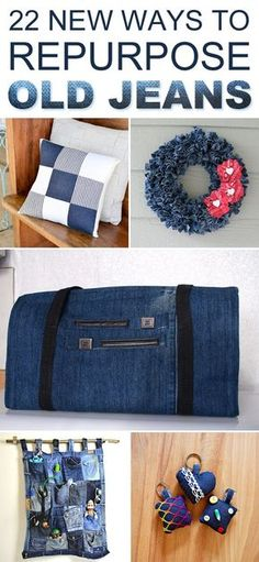 Here are 22 amazing ideas how to transform your worn-out jeans into functional and fabulous works of art!