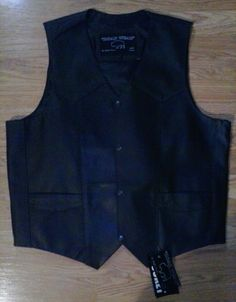 ROAD WEAR BY BUFFALO OUTDOORS LEATHER MOTORCYCLE VEST SIZE Large  NEW WITH TAGS #ROADWEAR #Motorcycle