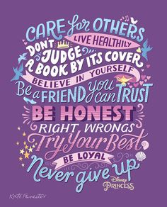 Excellent typography and lettering designs do matter a lot. This trend has become popular now a days and typography lovers are increasing day by day. Maya Angelou, Disney Princess Quotes, Disney Quotes, Princess Sayings, Disney Songs, Disney Facts, Disney Movies, Disney Characters, Positive Quotes