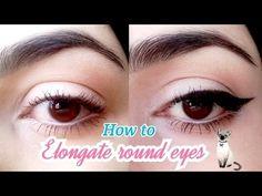 How To Elongate Round Eyes | مكياج العيون الدائريَّة - YouTube