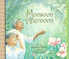 Read aloud. I spotted this book on display at the library. Even though it didn't fit with the theme of the week (#3), I thought it would be a nice story for her to read at home because it exposes her to an aspect of Indian culture - childhood during monsoons.