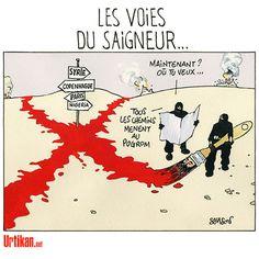 L'avancée de l'Etat islamique dans le sang - Dessin du jour - Urtikan.net