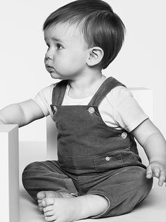 Relaxed overalls in soft corduroy from the Burberry Childrenswear A/W13 collection