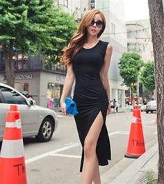 Wholesale Club Dresses For Women, Buy Cute Cheap Club Dresses Online - Page 3 Sexy Dresses, Club Dresses, Nice Dresses, Cheap Dresses, 2015 Dresses, Cheap Clothes, Style Noir, Scoop Neck Dress, Slit Dress