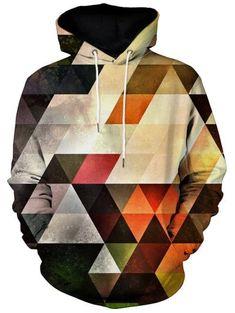 Kangaroo Pocket Vertigo Geometric Print Hoodie - M Stylish Outfits, Cool Outfits, Fashion Outfits, Cheap Fashion, Oversized Hoodie Dress, Clothing Sites, Men's Clothing, Cool Hoodies, Men's Hoodies