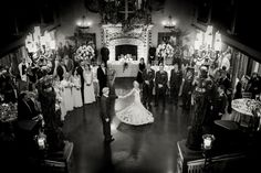 Barclay Villa's grand ballroom is the perfect place for a wedding reception and will make any bride feel like a princess! Weddings at Barclay Villa in Angier NC via www.SouthernBrideandGroom.com   Photo by Joe Payne Photography
