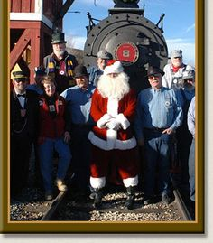 Every year, Santa briefly trades in his reindeer for historic Virginia & Truckee Railroad rolling stock.