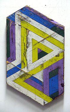 Ouroboros Bow    18 x 10    Acrylic, house paint, graphite on found wood