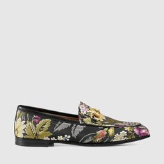 Gucci - Gucci Jordaan graphic jacquard loafer