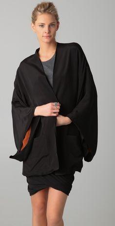 Blk Dnm Reversible Kimono Jacket in Black