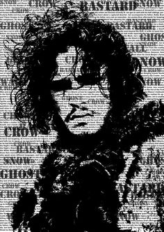 Game of Thrones Jon Snow poster by TextPosters on Etsy
