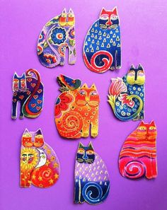 Laurel Burch Fabulous Felines Appliques*Handmade & Gorgeous/83