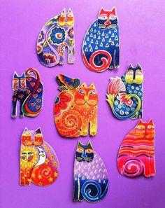Laurel Burch Fabulous Felines Appliques*Handmade & Gorgeous/83