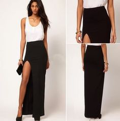 falda larga sexy para fiesta eventos envío gratis 2363