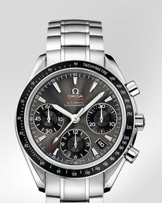 Speedmaster Date / Day-Date Chronograph 40 mm Date - Steel on steel - 323.30.40.40.06.001