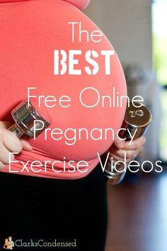 The best free online pregnancy workout videos! For those days that you don't want to get out to exercise!