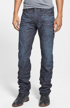 DIESEL® 'Safado' Slim Fit Jeans (0U801) available at #Nordstrom