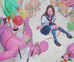 ceremony 2014 acrylic on canvas 162×194cm Kazuhiro Hori