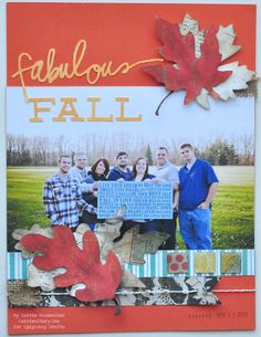 Layout made with the #epiphanycrafts Shape Studio Tool Square available at #MichaelsStores www.epiphanycrafts.com #scrapbook #layout #fall