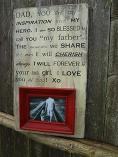 Father of the Bride Gift for Dad. Personalize with your own quote/song/poem/saying.