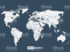 Simple world map vectors graphcs 02 free vector download free world map vector illustration gumiabroncs Gallery