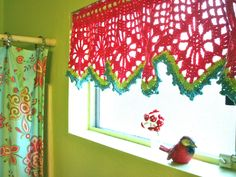 I really want to make some Crochet Curtains...
