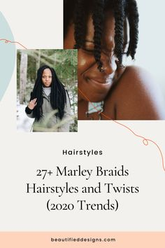Are you wondering how you will look with dreadlocks? Then why not try having Marley twists. We've scoured the web and gathered these amazing Marley braids hairstyles just for you. We hope that these images will inspire you. Types Of Hair Braids, Braids For Short Hair, Marley Braids, Marley Twists, Braided Hairstyles Tutorials, African Braids Hairstyles, Kid Hairstyles, Natural Hair Care, Natural Hair Styles
