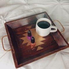 gold aztec tray